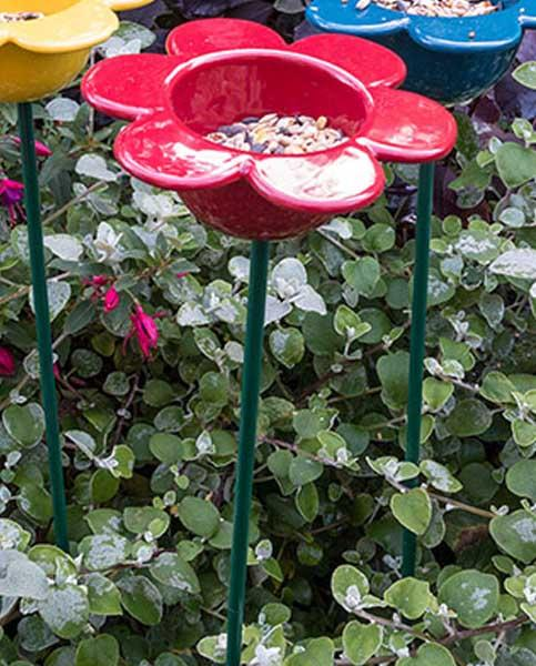 Red Petal Bird Feeder
