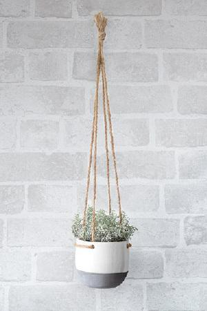 Macreme Hanging Pot with Plant